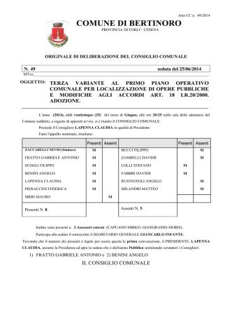 DCC 49 del 25/06/2014 - Comune di Bertinoro