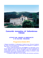 Programma Centro di Spiritualità 2014