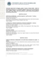 elenco corsi 2014 2015 - Università degli studi di Bergamo