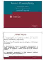 Laboratorio di Preparazioni Estrattive CROMATOGRAFIA La
