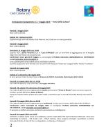 Anticipazione programma 11 - maggio 2014