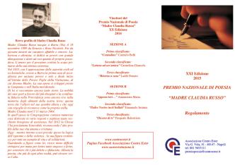Bando premio Madre Claudia Russo 2015
