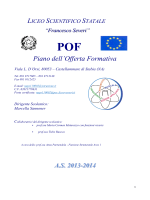 "POF2014 - Liceo Scientifico ""F. Severi"""