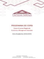 Programma degli insegnamenti CLEMA