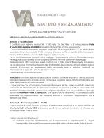 Statuto e Regolamento di Vda 2050