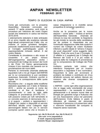 anpan newsletter febbraio 2015