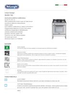 Linea Design DEMX 765 - De` Longhi Cookers Forni Piani Cappe