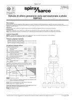 Valvole di sfioro pressione auto-servoazionate SDP143