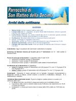 Avvisi della settimana  - Parrocchia di San Matteo della Decima