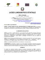 bando CLIL INGLESE - Liceo Linguistico Ninni Cassarà di