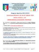 C.U. 28 2014-2015 - FIGC