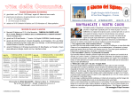 Foglio liturgico della Comunità di San Zeno Maggiore – Verona