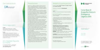 Corso Base di Ecografia Clinica in Emergenza Urgenza 2015