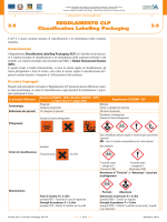 REGOLAMENTO CLP Classification Labelling Packaging