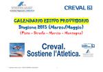 Fidal calendario Regionale - Atletica