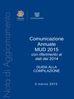 Comunicazione Annuale MUD 2015