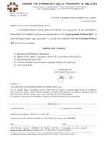 Convocazione Assemblea Ordine Farmacisti Belluno 2015