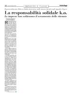 La responsabilità solidale k.o.