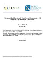 Catalogo dei Dati Territoriali – Specifiche di Contenuto per i DB