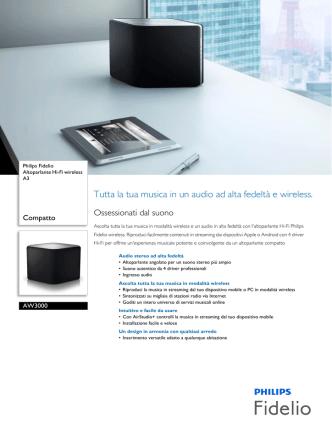 AW3000/10 Philips Altoparlante Hi-Fi wireless A3