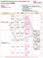 d2866 guarnizioni principali / kit - main gaskets / set