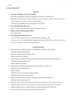 Federica Colleoni, PhD Education • University of