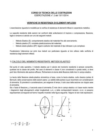 CORSO DI TECNICA DELLE COSTRUZIONI ESERCITAZIONE n° 2