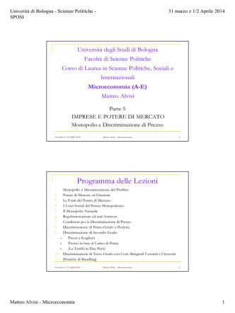 (31/3 e 1-2/4) Punto V - Dipartimento di Scienze Economiche