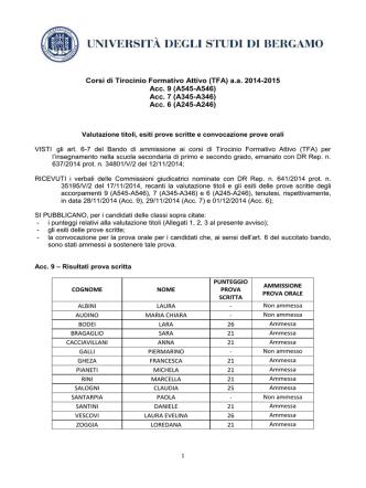 Acc. 6 (A245-A246) - Università degli studi di Bergamo