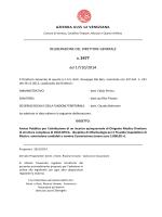 Delibera di ammissione candidati e nomina Commissione