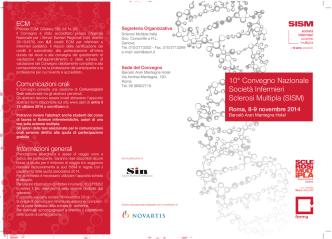 10° Convegno Nazionale Società Infermieri Sclerosi Multipla (SISM)