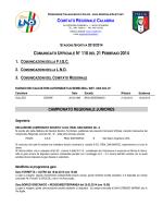 Comunicato Ufficiale n. 110 del 21 Febbraio 2014