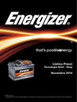 Listino Prezzi Novembre 2014