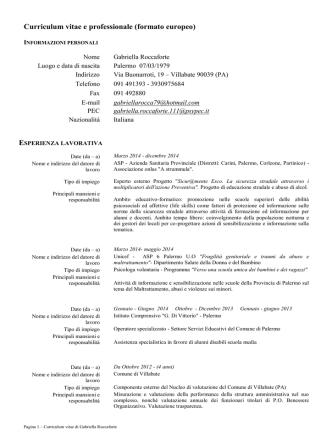 Curriculum - Comune di Villabate