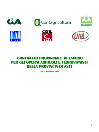 contratto provinciale di lavoro per gli operai agricoli e florovivaisti