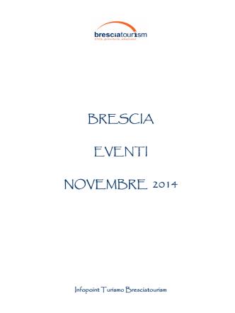 Calendario Eventi Novembre 2014