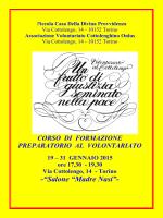 programma corso - Associazione Volontariato Cottolenghino