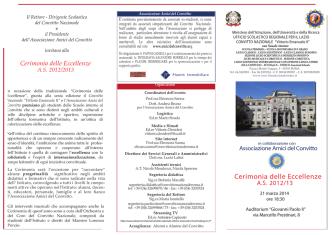 Cerimonia delle Eccellenze - Convitto Nazionale Vittorio Emanuele II