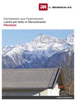 Dachplatten aus Faserzement Lastre per tetto in fibrocemento