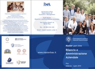 Brochure A.A. 2014-2015 - Master in Bilancio e Amministrazione