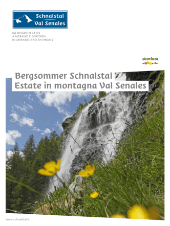 Bergsommer Schnalstal Estate in montagna Val Senales