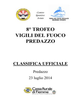 8° trofeo VVFF Predazzo - 2014 - unione sportiva stella alpina