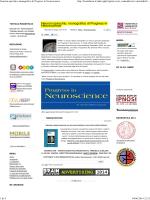Neuroni specchio, monografico di Progress in Neuroscience