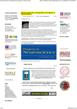 Neuroni specchio, monografico di Progress in Neuroscience
