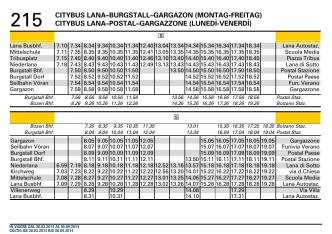 215 CITYBUS LANA–BURGSTALL–GARGAZON (MONTAG