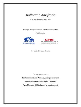 Bollettino Antifrode - Gamma Informazioni
