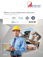 Brochure del Master in Loss Adjustment: Advanced