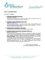CU N° 1 del 28/8/2014 Si inviano in allegato: - FIPAV