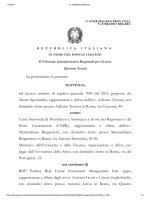 Sentenza Tar del Lazio su CNPR vi Tizzani N 07684 2013