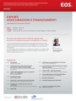 ExPORT: ASSICURAZIONI E FINANZIAMENTI